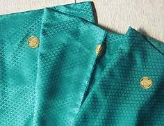 成人式宅配レンタル紋付 エメラルドグリーン紋付羽織袴生地のアップ