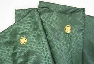 成人式宅配レンタル紋付 渋い緑深緑紋付羽織袴生地のアップ
