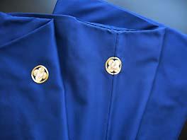 成人式宅配レンタル紋付 紺色無地紋付羽織袴生地のアップ