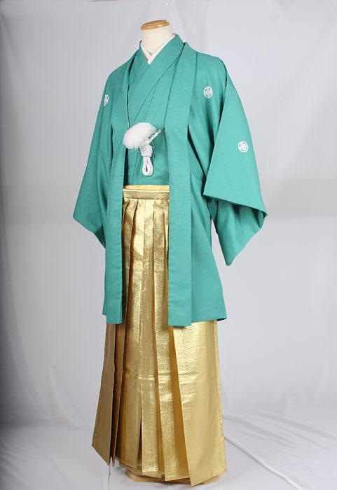 オプション袴 HM71着用イメージ成人式レンタル紋付袴着姿