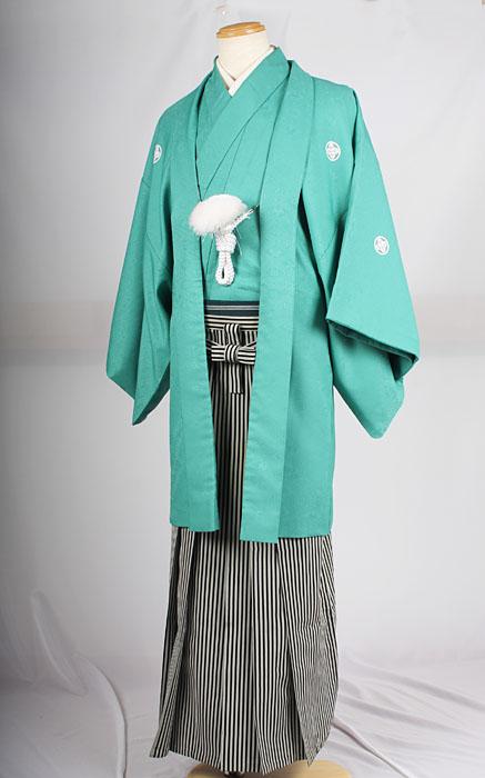 基本セットの袴A着用イメージ成人式レンタル紋付袴着姿