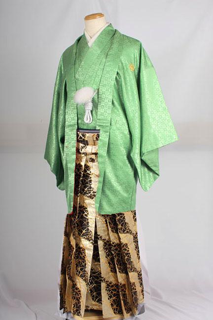 オプション袴MAN-HG46着用イメージ成人式レンタル紋付袴着姿