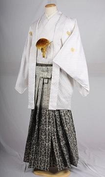 オプション袴ジャガードぼかしレンタル紋付成人式用貸衣装白刺し子紋付袴