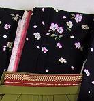 レンタル貸衣装Dolceドルチェ貸衣装卒業袴レンタル黒、グレーのお着物イメージお写真