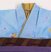レンタル貸衣装Dolceドルチェ貸衣装卒業袴レンタルブルーのお着物イメージお写真