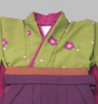 レンタル貸衣装Dolceドルチェ貸衣装卒業袴レンタル緑のお着物イメージお写真