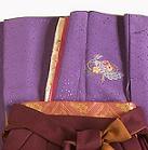 レンタル貸衣装Dolceドルチェ貸衣装卒業袴レンタル紫のお着物イメージお写真